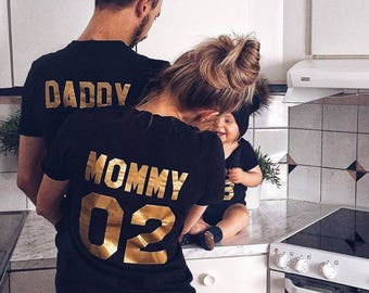 family team matching shirts / Mommy Daddy Baby t shirts/