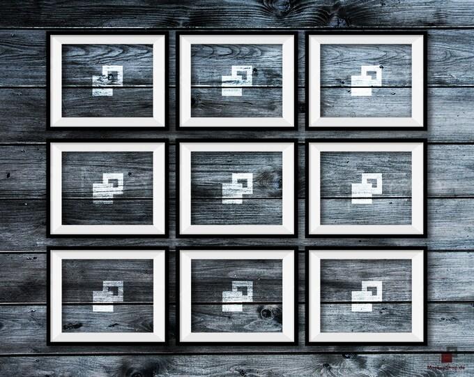 BLACK FRAME MOCKUP, 8x10, Set of 9, Empty Mockup Frame, Black Frame Mock-Up, Digital Frame Mockup for download, Frame Mockup, Download File