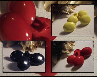 Oval yellow, Navy or red 12 buttons 5 / 16 foot 1.2 mm / 1.6 cm button sewing notions