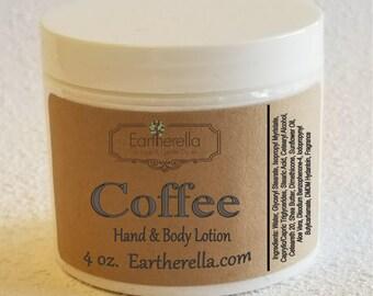 Eartherella COFFEE Hand and Body Lotion Jar 4 oz.