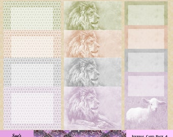 In Like a Lion, Out Like a Lamb journal card pack 4