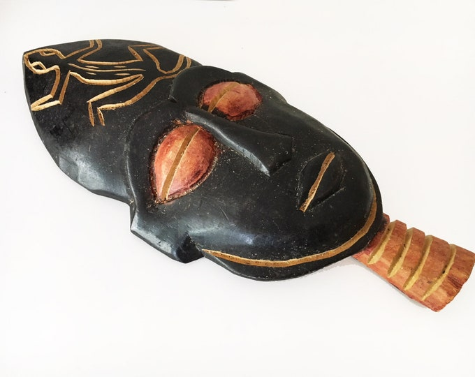 Beach Decor Vintage Wooden African Mask by SEASTYLE