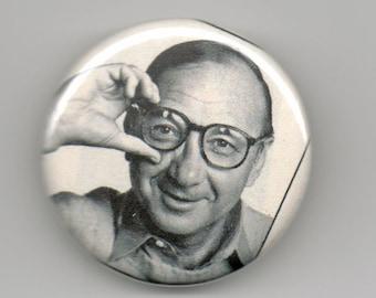 Neil Simon Playwright Portrait 1.25 inch Button