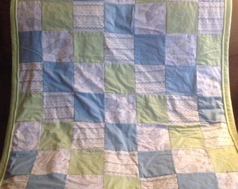 Under The Sea Patchwork Quilt - Whale Patchwork Quilt - Under The Sea Blanket - Whale Blanket - Whales