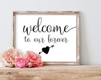 Printable Wedding Welcome Sign, Welcome to our Wedding Sign, Welcome Wedding Signs, Reception Welcome Sign, Modern Wedding Signage, Rustic