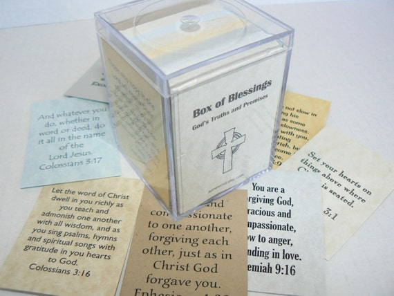Bible verse box of blessings cards scripture gift masculine negle Choice Image