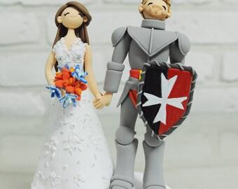 Knight theme custom wedding cake topper Decoration