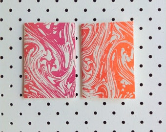 Letterpress Marble Notebook