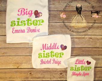 Sister Shirts ||  Big Sister Little Sister Shirts || Big Sister Middle Sister Little Sister Shirts || Big Sister Shirt | Little Sister Shirt