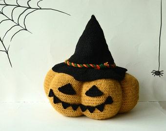 XL Jack O Lantern Crochet Pattern, XL Halloween Pumpkin Crochet Pattern, Large Crochet Jack O Lantern Pattern, Crochet Halloween Pumpkin