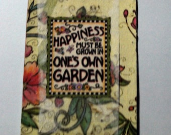 Magnet Mixed Media Happiness