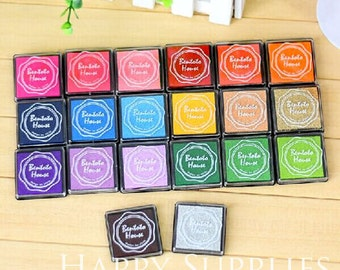 Set of 20 Colors Rubber stamp Ink pad for DIY scrapbook, fabric, wood, paper working (S03)