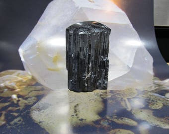 Black Tourmaline Massage Stone, Reiki, Relflexology, Metaphysical, Base Chakra, deflect Negativity 18T29