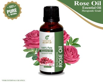 100% Pure Natural Rose Essential Oil - Sheer Essence - Therapeutic Grade Rose Oil 5ml To 500ml Free Shipping Worldwide