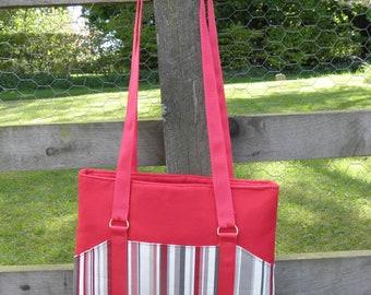 Shoulder Bag, Stripe bag, roses bag