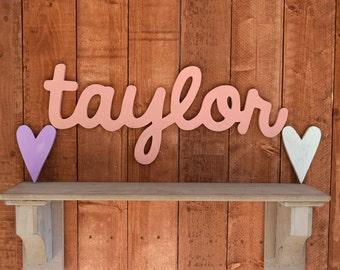Taylor Custom Wooden Name Sign - Nursery - Baby Name - Wedding - Shower Gift - Baby Name Sign, Kid's room decor, Nursery Nesting