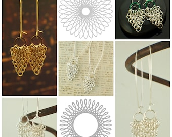 Chainmaille Earring Tutorial - European 4 in 1 Spear and Circle - Expert PDF