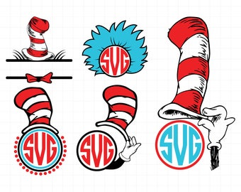 dr seuss clipart etsy rh etsy com Dr. Seuss Hat Coloring Page Dr. Seuss Hat Clip Art Black and White