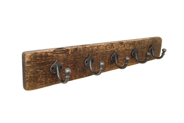 La pared percha carril capa estante de toalla decoraci n de - Percheros rusticos de pared ...