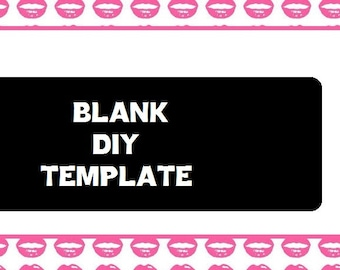 Customizable DIY Lips/Kiss Business Card - Digital Download