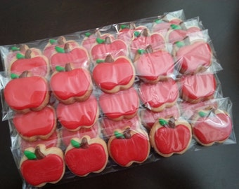 Mini Apple Cookies (5 in a Bag) - Ready for gift giving!