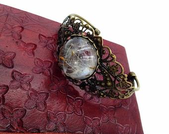 Dandelion bronze bracelet