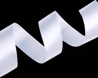 """70mm (3"""")     WHITE    Double Satin Ribbon   2 Metres Ideal for Sashes or Belts, Weddings"""