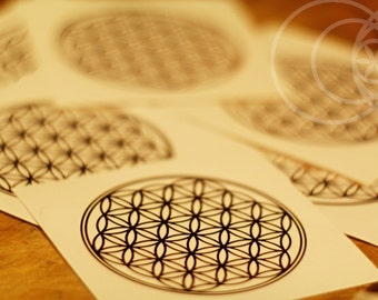 Flower of Life Mandala Wall sacred geometry laptop sticker