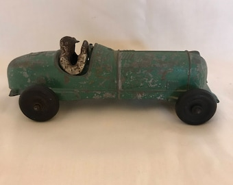 Hubley Kiddie - Toy Race Car No.5, 1930/40's Cast Metal
