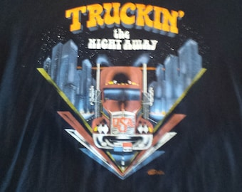 Truck Stop t shirt 1990 Twin Falls MN West Union 76