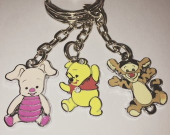 Winnie the pooh tigger, pooh, or piglet keyring