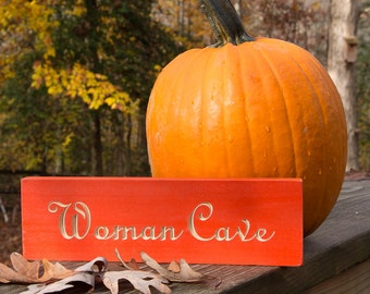 Woman Cave Wall Art for Quilters – Humorous Wood Sign