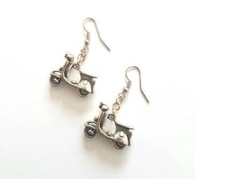 Vespa Scooter earrings