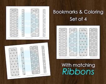 Bookmark Coloring Bookmark set DIY Bookmark Printable Bookmark Colouring  Bookmark Personalized Bookmark Template Mandala Coloring