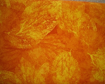 patchwork fabric leaves, yellow, Tangerine, 12865WIN