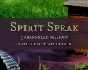 Spirit Speak - Three Channeled Sessions with Your Spirit Guides - Recorded Call Digital File