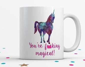 Mature, Graduation Gift, Unicorn Coffee Mug, Space Unicorn, Funny Coffee Mug, Unicorn Birthday Gift
