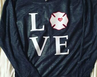 "Long Sleeve ""LOVE"" Dolman Tee"