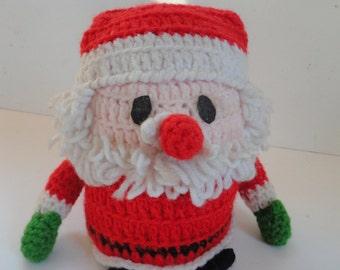 Vintage Hand Knitted Santa Claus Toilet Paper Holder Santa At Its Best Santa  Claus Christmas Joke