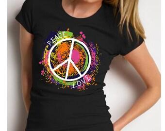Peace shirt, peace sign shirt, hippie shirt, peace love shirt, peace symbol shirt,  peace sign gifts