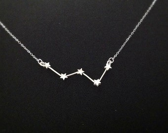 Cassiopeia Constellation Necklace (Sterling Silver)
