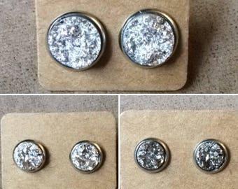 Silver Druzy Earrings - Multiple Options