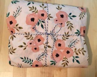Pink Floral Crib Sheet