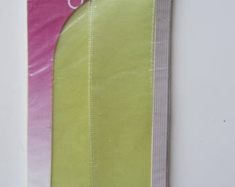Satin ribbon double sided light yellow - 3.50 m x 25 mm