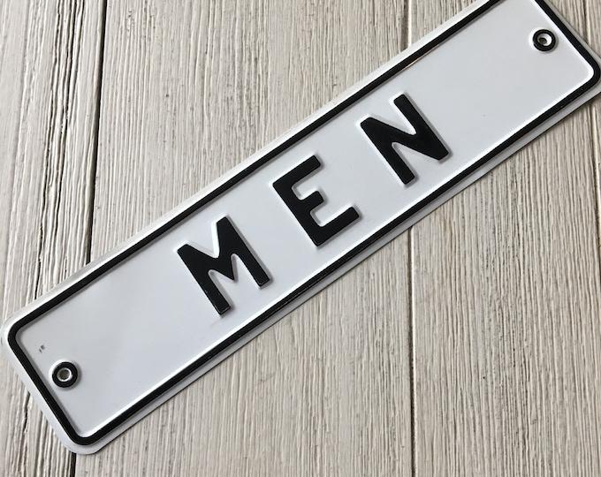 Men Vintage Sign Men's Room Restroom Metal Signage Bathroom