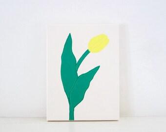 TULIP - Ivory & Yellow PAINTING - Tulip Painting - Flower Art - Yellow Tulip - Yellow Tulips - Flower Painting - Flower Print - Tulip Print