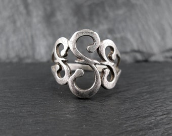 Sterling Silver Fancy Ring | Size 7 | Vintage Womens Ring