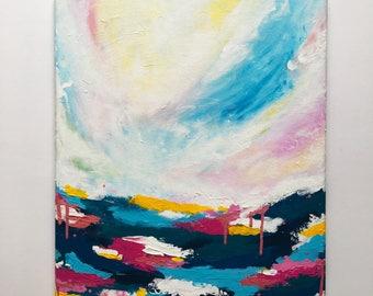 "Original Painting, Abstract Art, Wall Art, Canvas Art, Abstract Acrylic Art, Original Abstract Painting, ""Meet Me On The Horizon"""
