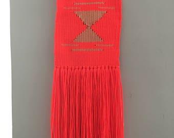 Florescent orange weaving (small)