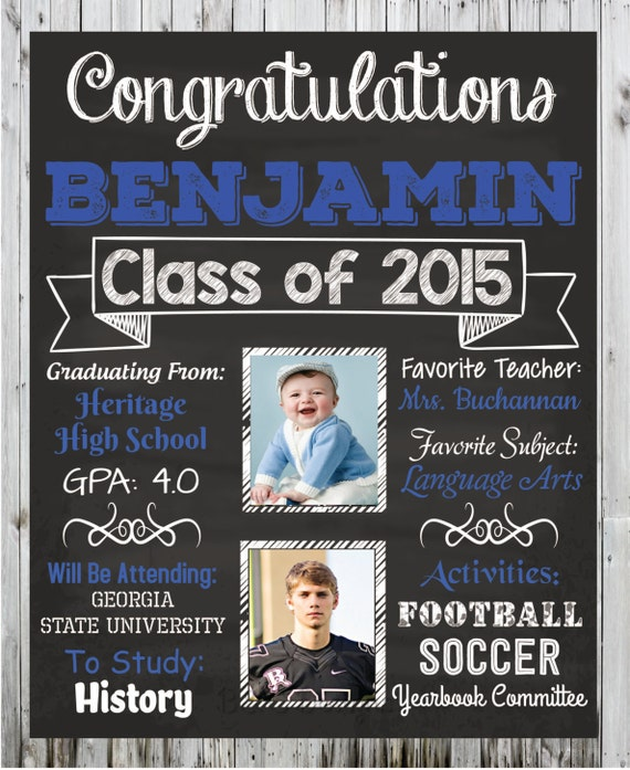 Personalized Graduation Poster Custom Graduation Poster